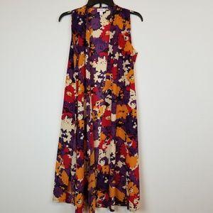 Lularoe Joy sleeveless floral Duster cardigan